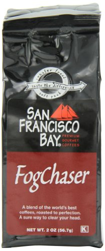 San Francisco Bay Coffee Ground Fog Chaser Coffee, 2-Ounce Bag (Pack of 12)