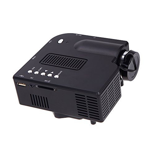douself HDMI Portable Mini LED Projector Home Cinema Theater AV, VGA, SD, USB, HDMI 1920 * 1080 Resolution 20-60 inches Image size