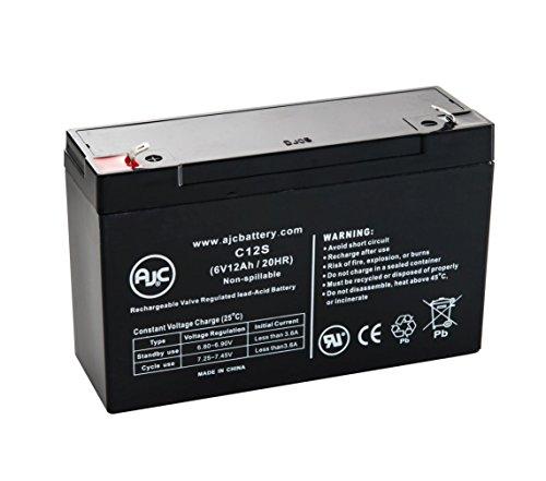 Batterie Panasonic LC-R0612Pa 6V 12Ah Acide scellé de plomb - Ce produit est un article de remplacement de la marque AJC®