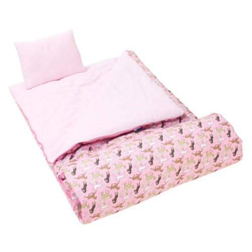 Wildkin Classic Collection Horses in Pink Sleeping Bag