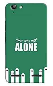 Omnam quote you are not alone printed back cover for Lenovo Vibe K5 Plus