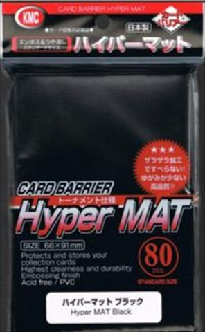 KMC Sleeves HM1508 Deck Protectors Hyper Matte Black, Pack - 80