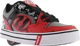 Heelys Motion Plus Skate Shoe (Little Kid/Big Kid), Red/Black, 13 M US Little Kid