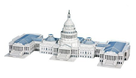 The US Capitol Hill 3D Puzzle, 132 Pieces
