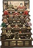 秀光オリジナル限定品 雛人形衣装着十五人七段飾りセット 取扱いに便利な軽い焼桐を素材とした七段に木製のお道具、豪華なお人形を桐箱に納めてお届け