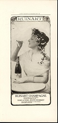 ruinart-champagne-beauty-hair-decorated-flower-1905-antique-historic-photo-print