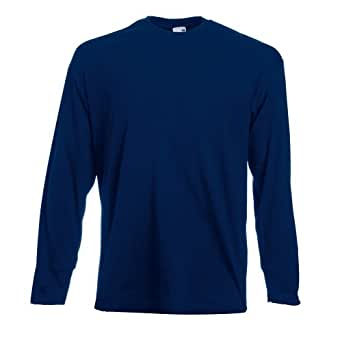 Fruit of the Loom Valueweight Long Sleeve T Navy,M