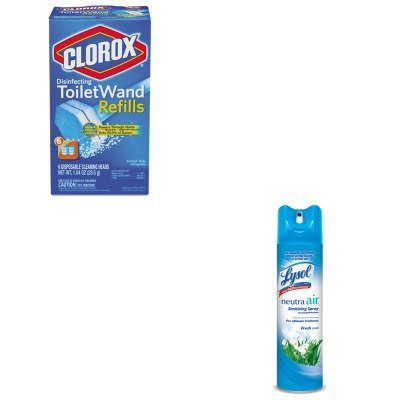 KITCOX14882RAC76938EA - Value Kit - Clorox Toilet Wand Refill Heads (COX14882) and Neutra Air Fresh Scent (RAC76938EA) kitbwkk5000rcp750411 value kit rubbermaid autofoam touch free skin care system rcp750411 and boardwalk premium half fold toilet seat covers bwkk5000