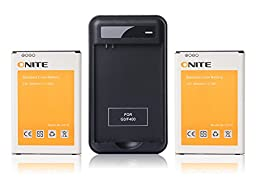 2 X Onite 3000mAh Battery for LG G3, BL-53YH, D850 (AT&T), VS985(Verizon), LS990(Sprint) + Battery Charger