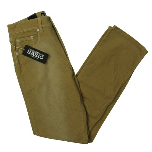 Mens D & G Cord Trousers Slim Straight Fit Beige Corderoy Zip Fly W 30 / L 32