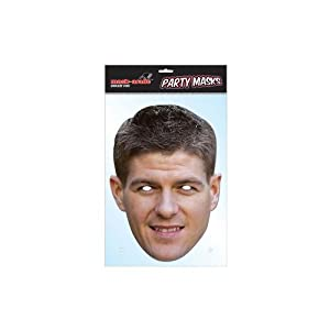 Steven Gerrard Mask- Steven Gerrard face mask- high quality durable card- with eye holes and elastic strap- approx 300mm x 210mm (average face size)- on a header card by Toys / Games