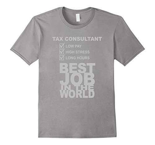 Men's Tax Consultant Low Pay High Stress Long Hours T-Shirt Medium Slate