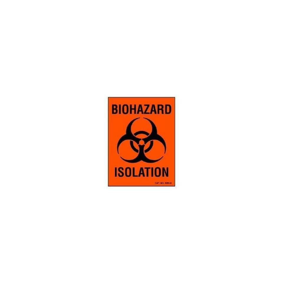 Specialty Biohazard Warning Label, 3x4 Imprinted Biohazard Hazard Identity, 100 Units 1 pack