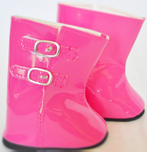 PINK RAIN BOOTS FOR AMERICAN GIRL DOLLS-18 INCH DOLL CLOTHES