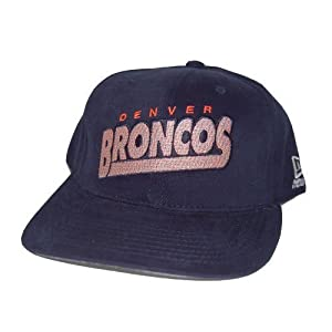 New New Era Denver Broncos Cotton NFL Hat Cap - Navy Blue by New Era