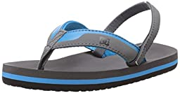 DC Grommet Sandal (Toddler), Charcoal/C Blue, 9 M US Toddler