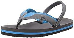 DC Grommet Sandal (Toddler), Charcoal/C Blue, 10 M US Toddler