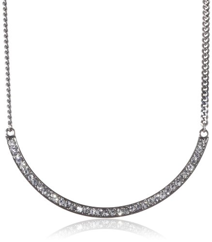 "Kenneth Cole New York ""Geometric Pave"" Pave Crescent Necklace, 21"""