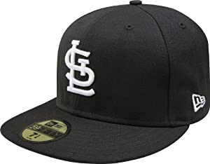 MLB St. Louis Cardinals Black with White 59FIFTY Fitted Cap by New Era
