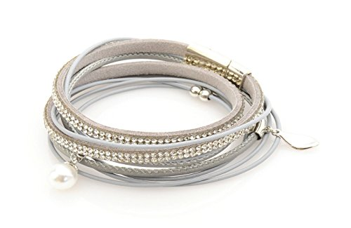 multi-strand-real-leather-bracelet-with-diamantes-silver-beads-and-a-pearl-uk