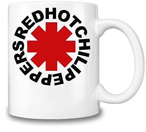 Red Hot Chili Peppers Logo Tazza Coffee Mug Ceramic Coffee Tea Beverage Kitchen Mugs By Genuine Fan Merchandise