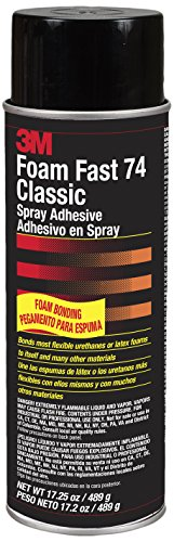 3M(Tm) Foamfast 74 Spray Adhesive Orange Aerosol Can, 24 Oz, Original Formula (Not For Sale In Ca) [Price Is Per Can] back-1078238
