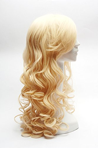 Blonde Long Wavy Costume Long Light Blonde Cosplay Wigs Ladies' Curly Wigs 60cm