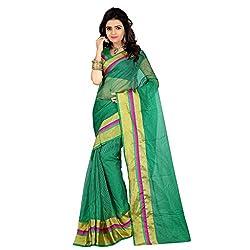 Dealseven Fashion New Green Colure Tissue Silk Saree