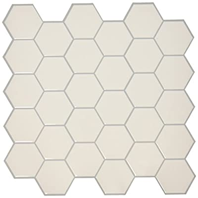 "RoomMates Pearl Hexagon StickTILES, 4-pack 10.5"" X 10.5"" by York Wallcoverings - Wall Decals"