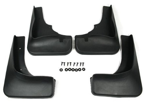 Black Auto parts 4PCS Mudguard Splash Guard Mud Flap Fit For 2008 2009 2010 Mitsubishi Outlander