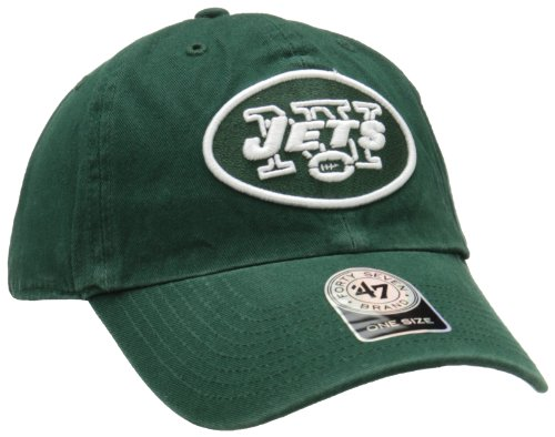 NFL New York Jets Clean Up Adjustable Hat, Dark Green, One Size Fits All Fits All at Amazon.com