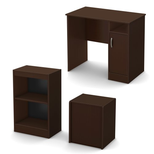 3 Piece Office Furniture ~ South shore piece axess office in a box furniture