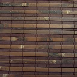 Woven Wood Roman Shades, 25W x 36H, Hatteras Cocoa
