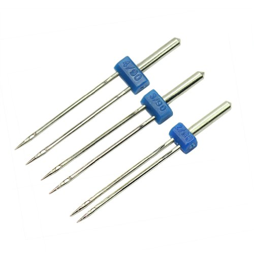 High Quality 3pc Durable Double Twin Needles Pins Sewing Machine Accessories New (Twin Needle Sewing compare prices)