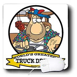 Dooni Designs Worlds Greatest Cartoons Funny Worlds Greatest Truck Driver Occupation Job Cartoon Mouse Pads