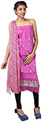 Hardy's Style Women's Cotton Silk Dress Material (HS-35, Pink)