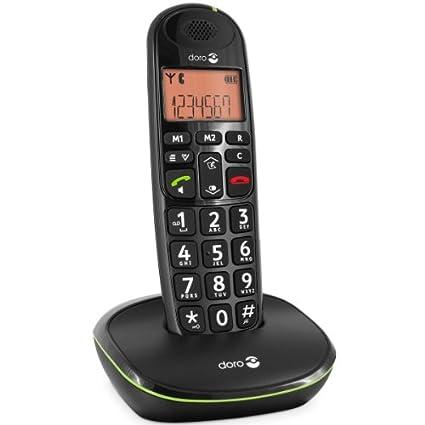 T�l�phone fixe DORO PHONEEASY 100W NOIR SOLO SANS REPONDEUR