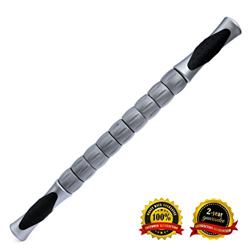 "Big Save! The BeigeWolf Best Fitness Muscle Roller Stick 18"" for Athletes Massage Stick Body Ro..."