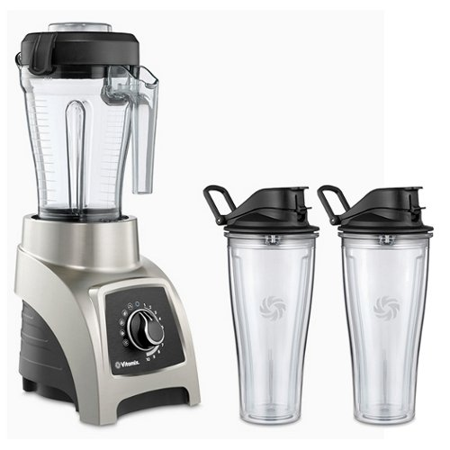 Vitamix S55 Brushed Stainless 40 Ounce Blender with Two 20 Ounce Travel Cups (Vitamix Personal Blender S Series compare prices)