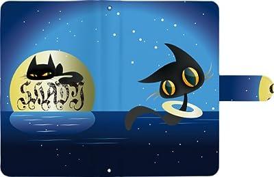 【 BLADE Q+ 】 手帳型 ケース 手帳 レザー マルチ タイプ カバー ねこ 猫 猫柄 / クロネコ 夜空 黒猫 / BLADEQ+ケース BLADEQ+カバー SoftBank BLADEケース BLADEカバー Q+ケース Q+カバー ネコ 肉球 リボン くろねこ とらねこ りぼん かわいい キャラクター プリント クロネコ夜空黒猫t032