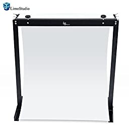 LimoStudio Portable Shooting Table Stand LED Continuous Light with White Background , AGG1598