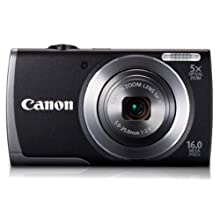 Canon PowerShot A3500 16MP Point-and-Shoot Digital Camera (Black) with 4GB SD Card, Camera Case