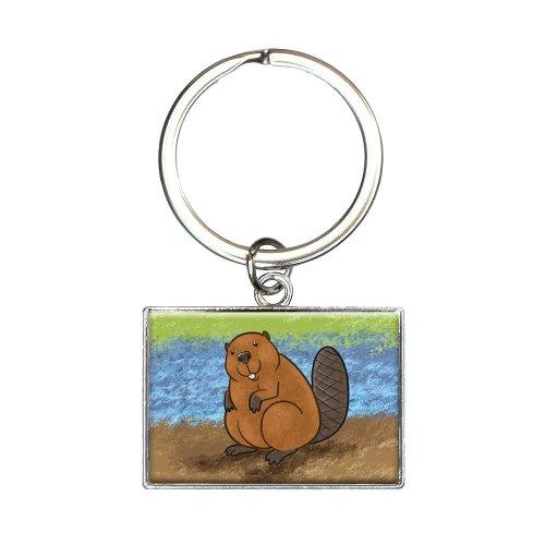 Beaver Rectangle Keychain