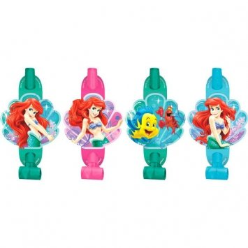 "Amscan Disney's Ariel Party Blowouts, Green/Pink Blue, 5 5/8"" x 3 1/2"""