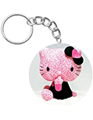 Lovely Kitty | ShopTwiz Printed Circle Key Ring