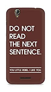 AMEZ do not read the next sentence i like you Back Cover For Acer Z630S