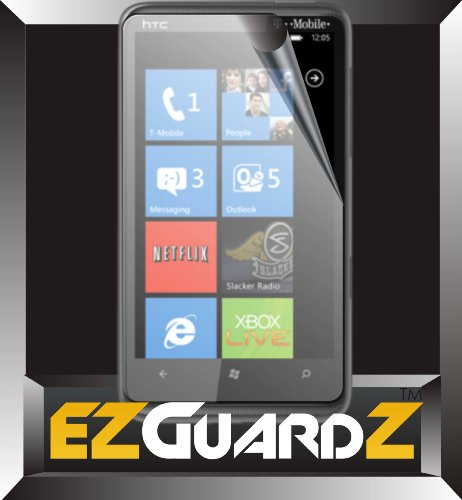 5-Pack EZguardZ© HTC HD7 WINDOWS PHONE Screen Protectors (Ultra CLEAR)(EZGuardZ© Packaging)