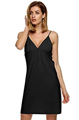 Ekouaer Sleepwear Women's Sexy Chemise Slip Nightgown