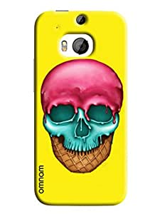 Omnam Melting Skull printed with combination of icecream softy back cover for HTC M9 Plus
