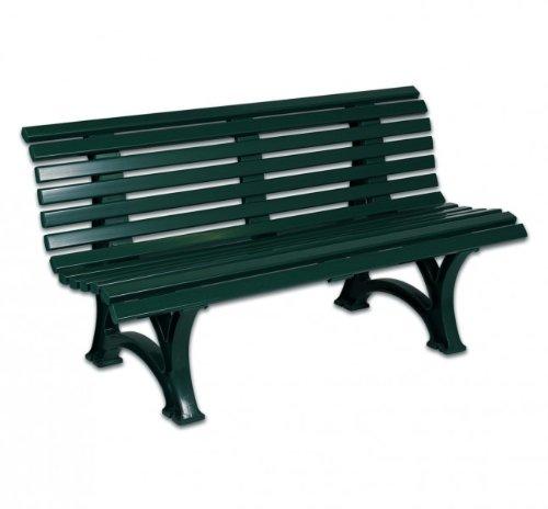 Bank, Gartenbank, 3-Sitzer, Kunststoff, Terrassenbank 150 cm grün günstig